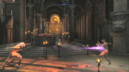 Mortal Mortal Kombat 9 (2011) Mileena Kitana Sindel Tag Team Gameplay Trailer