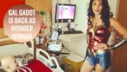 Гал Гадот посети болницата като Жената чудо