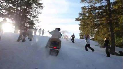 Най - забавната снежна битка