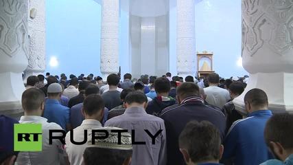 Първата молитва за Рамадана в Москва