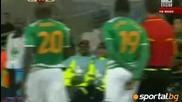20.06.10 Антифутбол на Кака в края на мача с Кот д`ивоар