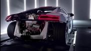 Двигател и звук Audi R8 V10 Plus 2014 .