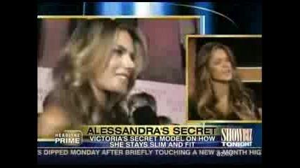 Alessandra Ambrosio On Showbiz Tonight