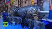 Във Франция произведоха най-голямата и ефективна газова турбина