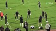 Официалната тренировка на ЧФР Клуж преди двубоя с ЦСКА