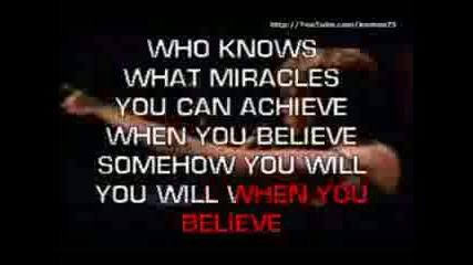 When You Believe - Karaoke