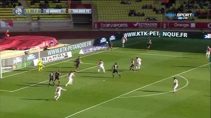 Монако - Тулуза 4:0, 22 кръг, Лига 1