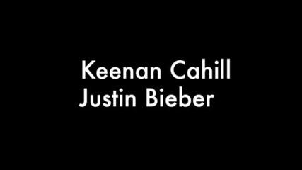 Джъстин и Keenan Cahill се лигавят пред камерата на As Long As You Love Me и Beauty and A Beat
