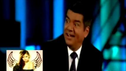 Нина Добрева говори на български в шоуто на Джордж Лопез ((: