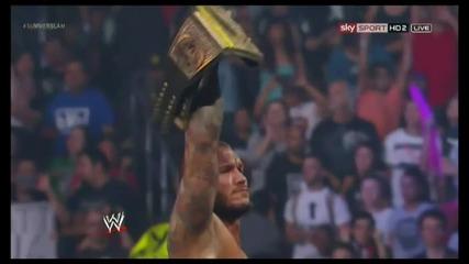 Wwe Summerslam 2013 Randy Orton Използва своето куфарче