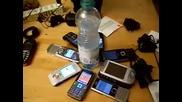Вода и мобилни телефони 1. Шега. В следващото клипче ще видите как става