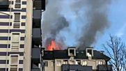 """Пламна блок в """"Студентски град"""""""