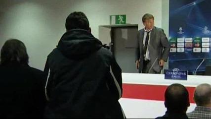 Скандално - Леман пикае по време на мач