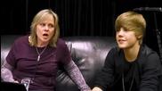 Част от филма на Джъстин - Never Say Never - запознаване с екипа..