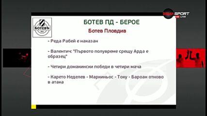 Новините преди Ботев Пловдив - Берое