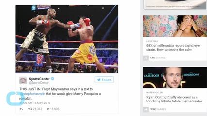 Floyd Mayweather Won, so of Course He's Demanding a Rematch Already