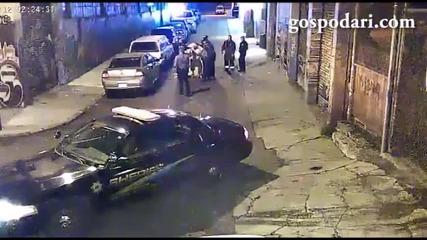 Полицейско насилие над българин в Сащ !