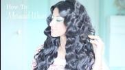 Как да си направите косата на вълни като на русалка - видео урок на английски