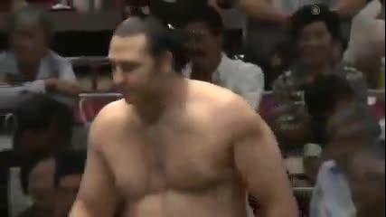 Котоошу с четвърта поредна победа този път срещу Миогирю / Аки Башо 18.9.2013