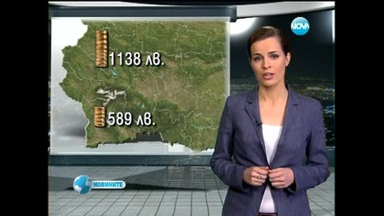 Средната заплата в София и страната