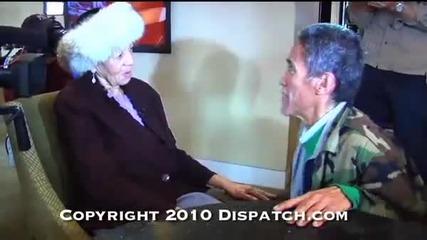 Сурови кадри! Бездомникът (тед Уилямс) среща майка си 07.01.2011