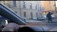 В Русия пешеходците са пълни с изненади