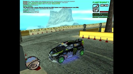 drift car with ken block ford fiesta