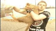 Russia: Not your usual pet - Russian family adopts lion in Nizhniy Novgorod