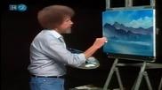 S22 Радостта на живописта с Bob Ross E10 Wintertime Blues ღобучение в рисуване, живописღ