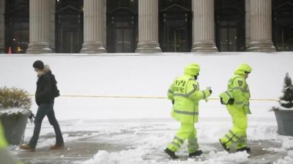 Сноуборд в улиците на Ню Йорк Сити!