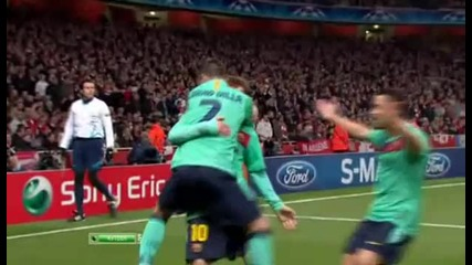 Arsenal vs Barcelona 0 - 1 David Villa 16.02.2011