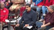 Venezuela: Thousands join Maduro to mark start of third year in office