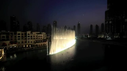 Dubai Fountain - time to Say Goodbye - Andrea Bocelli and Sarah Brightman