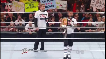 Wwe Raw 26.12.11 John Laurinaitis set a Gauntlet Match for Wwe Champion Cm Punk