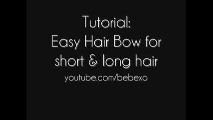 Лесна идея за панделка в косата! - Туториал за дълга и къса коса!