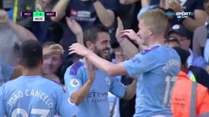 Бернардо с хеттрик, Сити направи 7:0 на Уотфорд