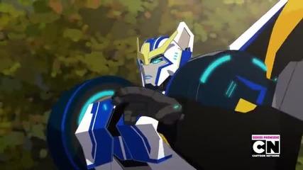 Transformers Robots in Disguise 2015 episode 1 bg sub/трансформърс Роботи под Прикритие епизод 1 бг
