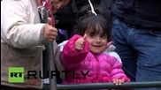 Germany: Refugees wait hours to enter Germany from Passau border