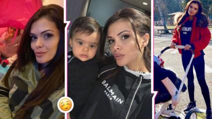 Преслава умилява Instagram със снимки на Паола! Вижте как певицата проговори бебешки език!
