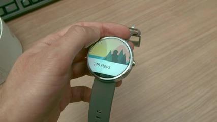 Дълго чаканият умен часовник - Moto 360 - разопаковане и първи впечатления - видео на smartphone.bg