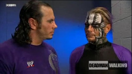 Hardy Boyz - Live for the moment.. The Moment is now! - Backstage | Smackdown 28.8.2009