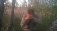 Выстрел в лицо из газового пистолета )