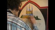 Абв Краси рисува по колите на монашеската бира Ла Трап трапис