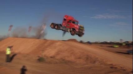 Лудо изпълнение с камион
