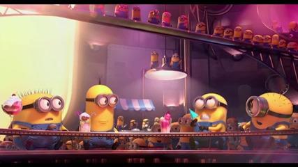 Аз, проклетникът 2 - щура сцена с жълтите слуги и Гру