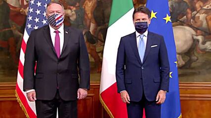 Italy: PM Conte meets Pompeo for talks in Rome
