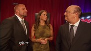 Paul Heyman discusses a Plan C for Wwe Battleground: Raw, July 14, 2014