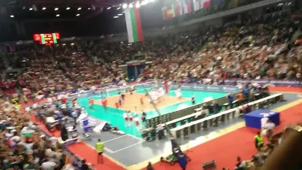 13000 в Арена Армеец избухват на мача България Германия 3:0