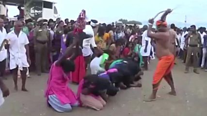 India: Thousands of women get whipped in bizarre exorcism ritual