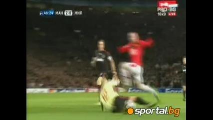 Манчестър Юнайтед - Милан 4:0 Прекрасна победа на Ман. Юнайтед с 7:2